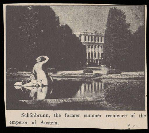 Althea Hurst album, 1938 .Schonbrunn, the former summer residenxe of the emperor of Austria