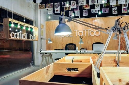 friendly customer service area tattoo shop interior