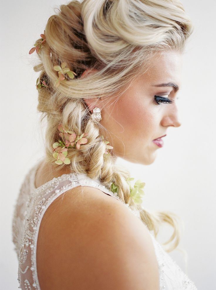 Braideds for days! Hair + Makeup: Special Occasions Hair & Design - http://www.stylemepretty.com/portfolio/special-occasions-hair-and-design Floral Design: Schofield Floral Co. - http://www.stylemepretty.com/portfolio/schofield-floral-co Photography Studio: Studio 414 -    Read More on SMP: http://www.stylemepretty.com/2016/12/29/5-beauty-looks-to-steal-for-your-big-day/