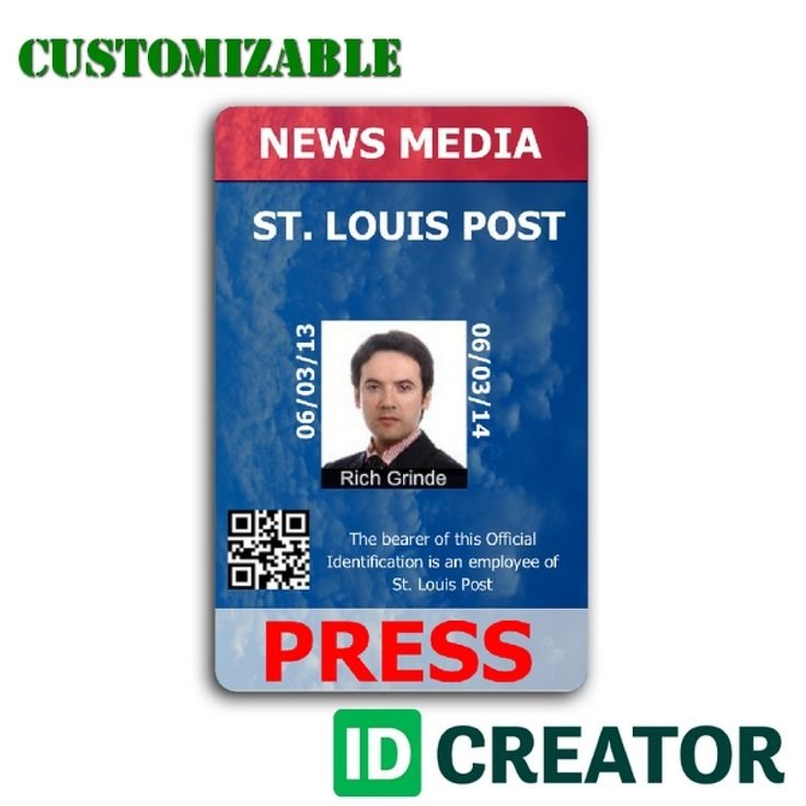 15 best Press Pass images on Pinterest Card patterns, Card - membership id card template