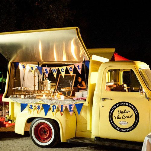 We are hoping this is what will be happening at the wedding!!!    Food Trucks at Weddings www.celebrationsbykat.com