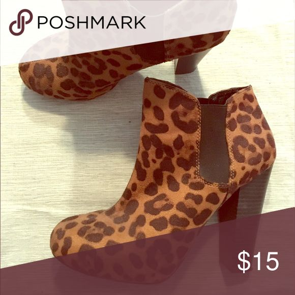 Leopard print ankle boots Great condition madden girl leopard print ankle boots Madden Girl Shoes Ankle Boots & Booties