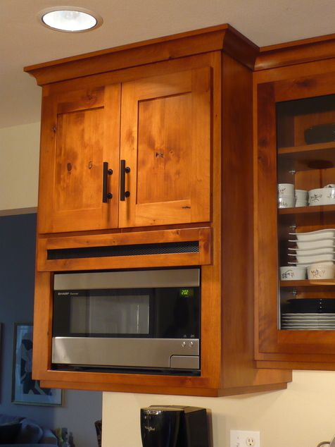 Shaker cabinets in knotty birch kitchen pinterest for Alder shaker kitchen cabinets