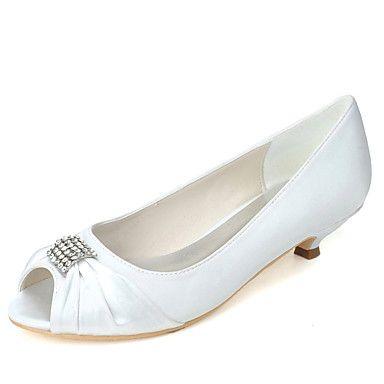 Dámské+-+Svatební+obuv+-+Podpatky+/+S+otevřenou+špičkou+-+Lodičky+-+Svatba+/+Party+-Černá+/+Modrá+/+Růžová+/+Fialová+/+Červená+/+–+EUR+€+34.29