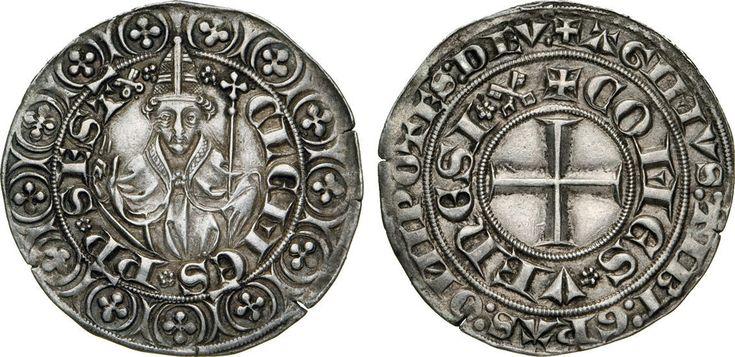 NumisBids: Numismatica Varesi s.a.s. Auction 65, Lot 738 : CLEMENTE VI (1342-1352) Grosso tornese s.d., Ponte della Sorga. D/...
