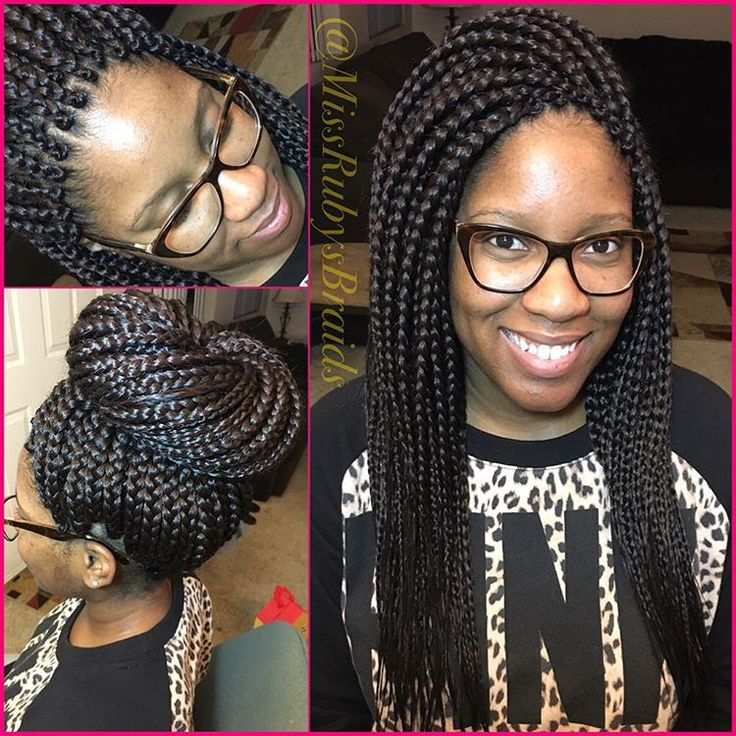 Medium Box Braids With Close Parts In Front Amp On Top For