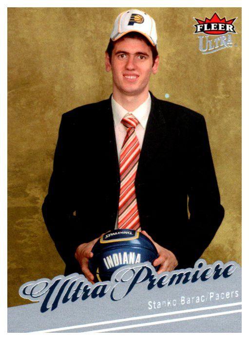 2007-08 Fleer Ultra Stanko Barac Rookie Card Indiana Pacers