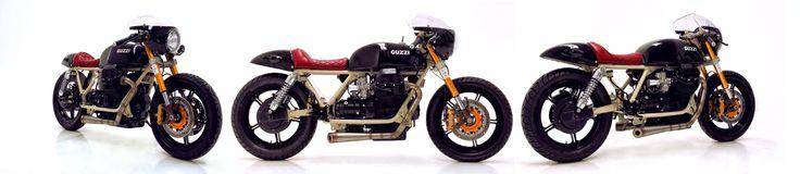 Moto Guzzi 850 Café Racer by Herencia Custom Garage.    http://bikebound.com/2017/03/29/moto-guzzi-850-cafe-racer/ and/or http://herenciacustomgarage.com/