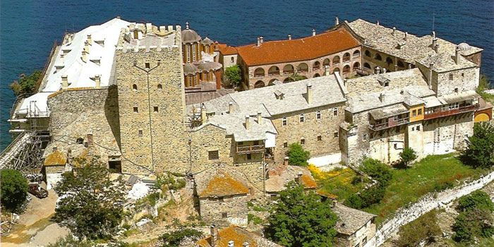 VISIT GREECE  Monastery of Esfigmenou in #Athos #Macedonia #Greece