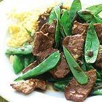 Peultjes met rundvlees-reepjes en Thaise dressing