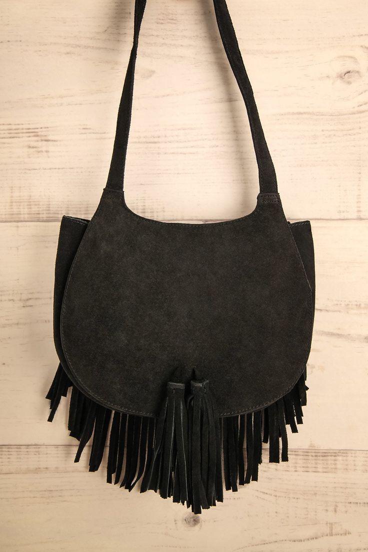 Sutera #lapetitegarconne #handbag #bags #black #fringe #leather