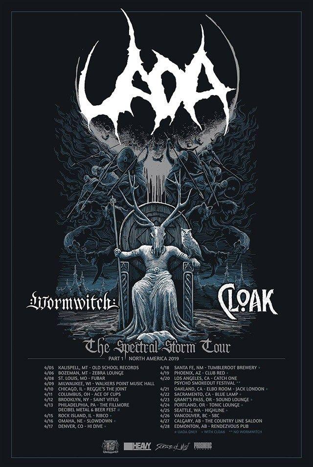 Uada Wormwitch Cloak Announce North American Tour American