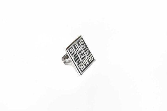 3D Printed Ring  Ethnic Ring  Adjustable Ring  by EtnoWareStore