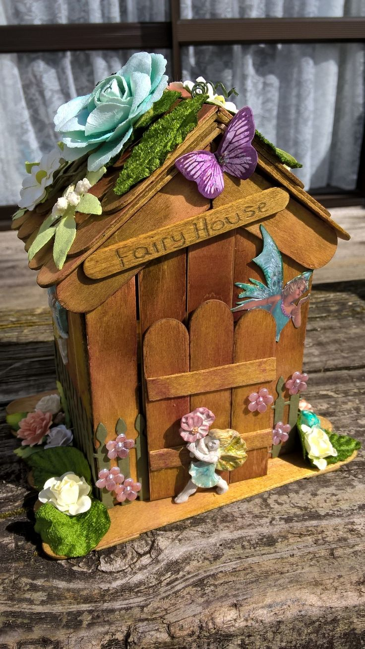 fairy house using iceblock sticks