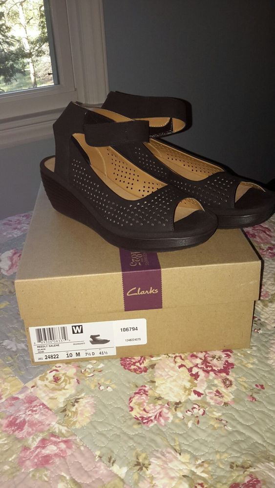 fc46c8dc854 Clarks Reedly Salene Mid Wedge Leather Womens Size 10 NIB  fashion   clothing  shoes