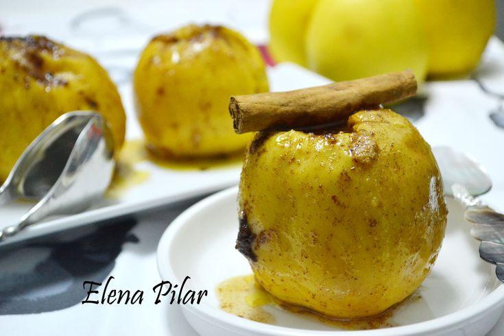 Mi Recetario por Elena Pilar: Manzanas asadas en el microondas con canela y brandy