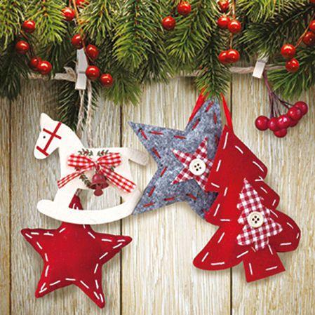 Serwetki decoupage 088 - Christmas & Star x2 - ID: 23760 - papierA4.pl