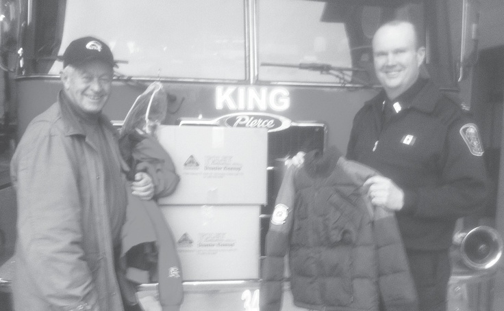 Township staff wanted to do something different as a winter project. They canvassed for coats & jackets in good condition to be donated to the fire dept & coordinated the preparation of the items for further use, with Foley Restoration generously cleaning all the coats and jackets donated.