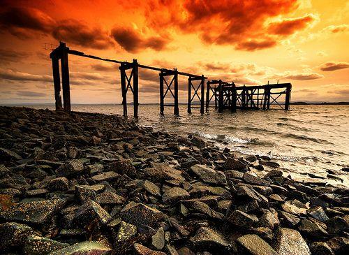 old pier at Aberdour, Scotland
