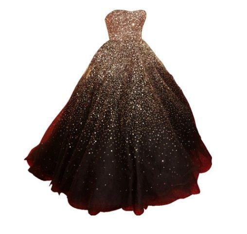 Gold and black ball gown