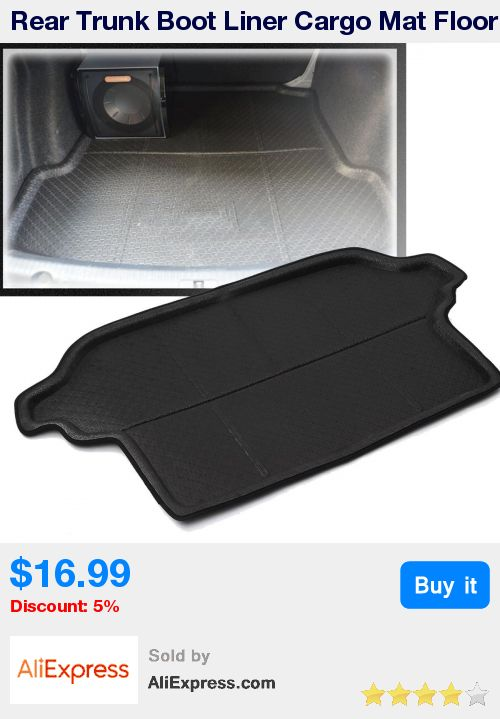 Rear Trunk Boot Liner Cargo Mat Floor Protector For Subaru Forester 2013-2016 Strong Polyethylene Form Black * Pub Date: 12:59 May 30 2017