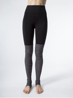 972e9d7d0f ALO YOGA High-Waist Goddess Legging Black/Stormy Heather LEGGINGS ...