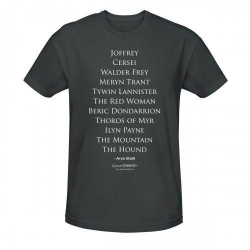 Game of Thrones Arya's Kill List T-Shirt
