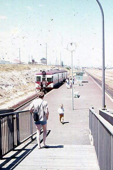 Leighton Station, North Fremantle, 1970's.  Western Australia.