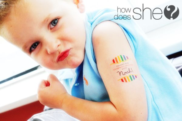 So cool. Temporary tattoos!