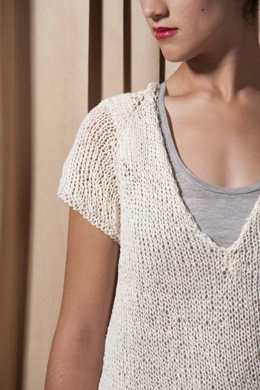 Deep V Tee - Knitting Daily