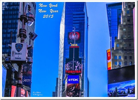 Times Square, New York.  New Year's day 2015