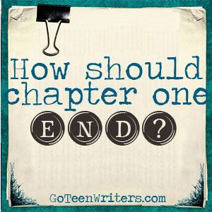 How Should Chapter One END? Ending scenes and chapters well is important overall, but your first chapter is special. For one thing, it's possible your reader still hasn't completely bought into reading this book. Ending your first chapter well is an opportunity to show a reader that they're in capable hands and you're going to tell them a good story. When you're published, it's common to put the first chapter of your book on your website. In that situation, you definitely want to end in a…