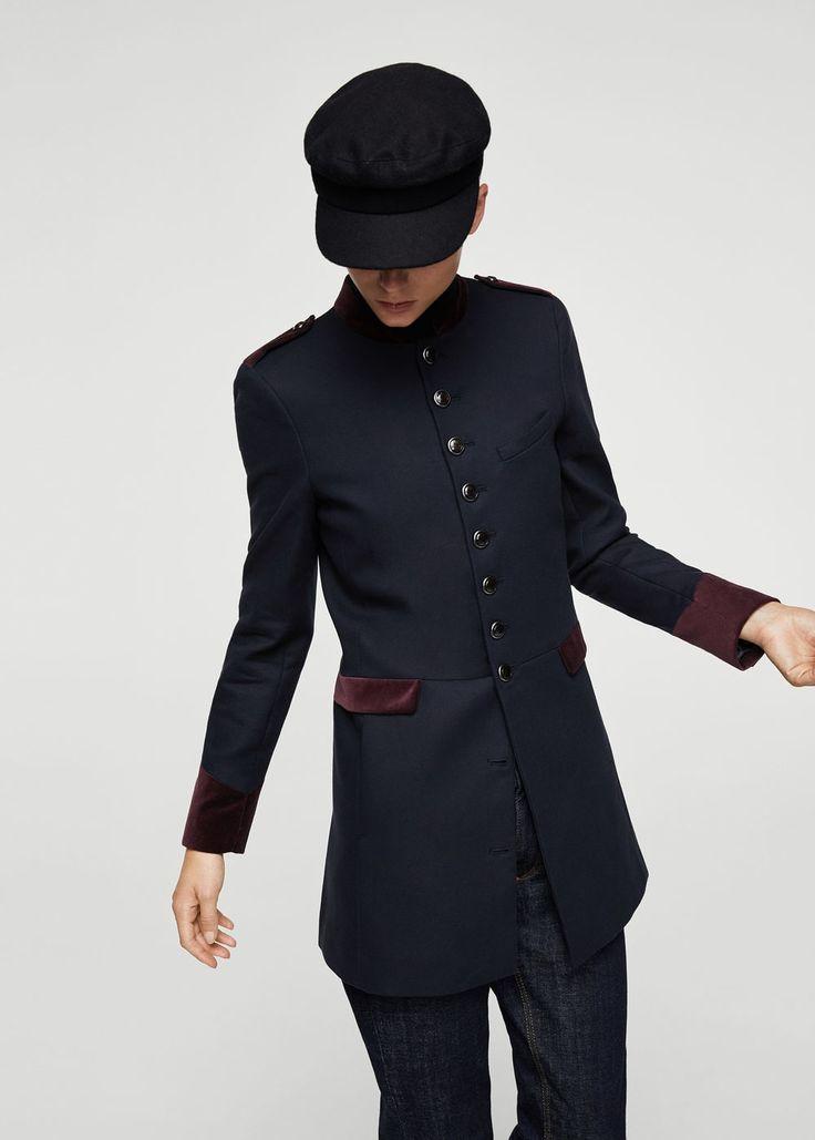 Military style coat - Woman | MANGO Macedonia