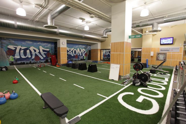 Turf Zone A Turf Floored Room At Goodlife Gym A Flooring Project By Flatout Flooring Gym Flooring Floor Workouts Indoor Track