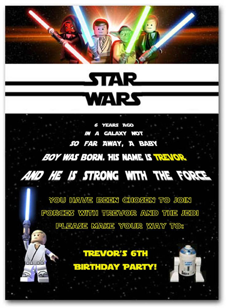 Best 25 Star Wars Invitations Ideas On Pinterest Star Wars