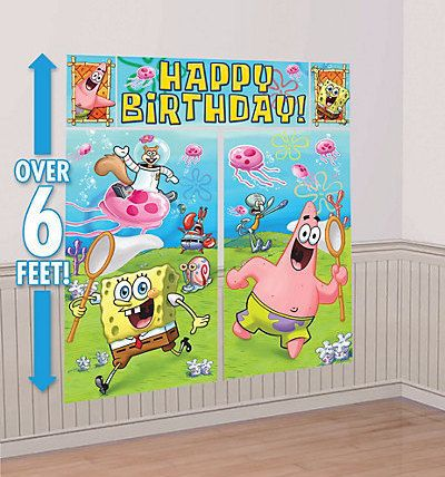 Hey, I found this really awesome Etsy listing at https://www.etsy.com/listing/261034633/spongebob-squarepants-giant-scene-setter