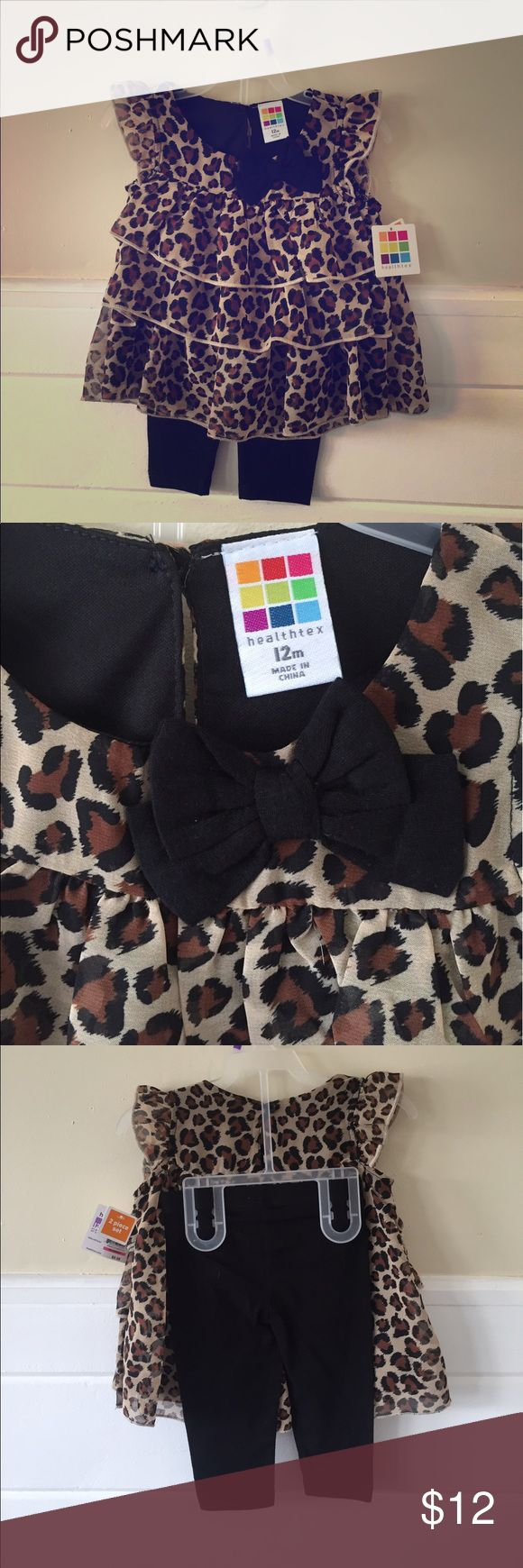 2 Piece Cheetah outfit Adorable! Never worn! Healthtext Matching Sets