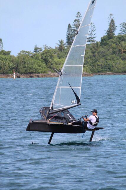 Moth sailing in Bermuda.