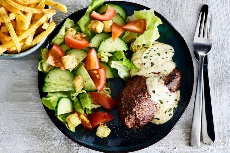 (Lekker!) Biefstuk met bearnaisesaus en ovenfriet
