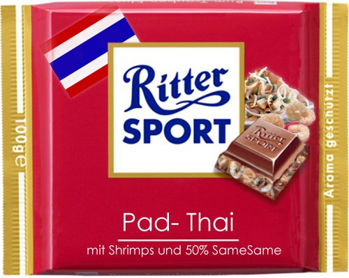 RITTER SPORT Pad Thai - yum! Two of my favourite things in one bar! ;-)
