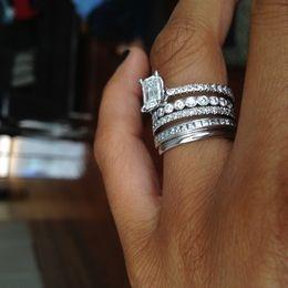 Unique Pave 0.30ct Diamonds 14K White Gold Floral ... | RingsCollection