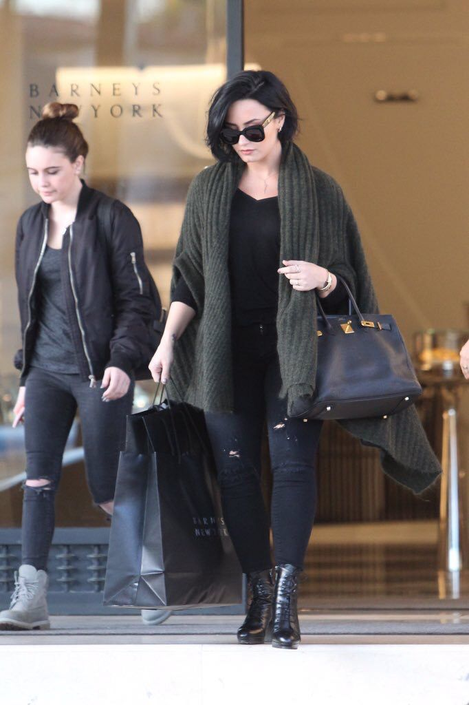 Demi Lovato with Bea Miller shopping in Los Angeles - February 3, 2016