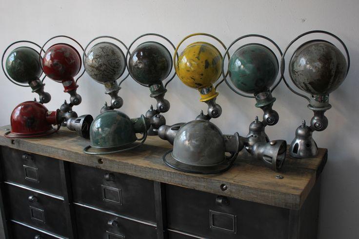 Unique Lampe Jielde Applique Finition Vintage Industrielle