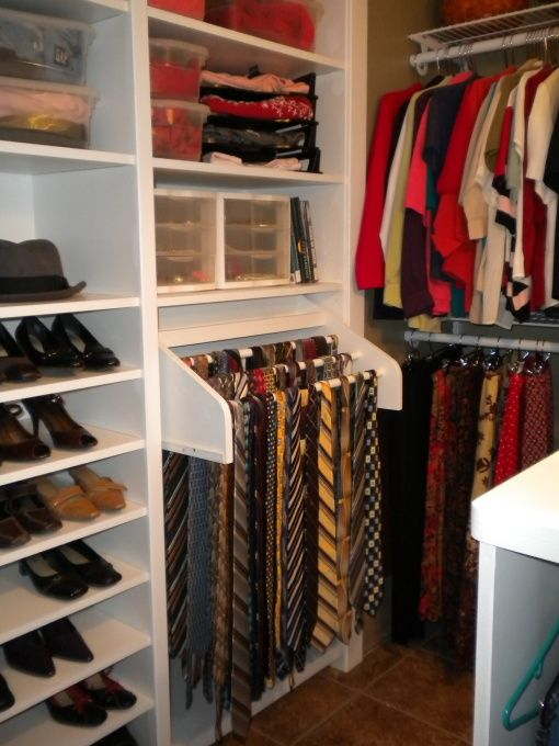 Pull Out Tiered Tie Storage, Good For A Shallow Space