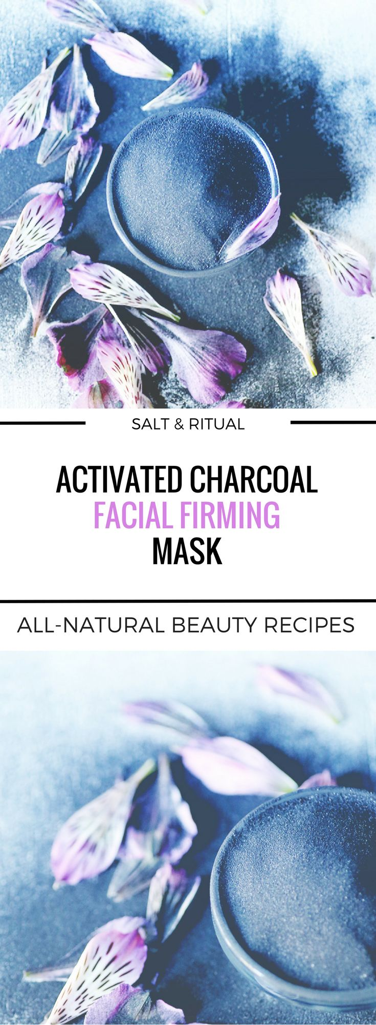 Simple two ingredient activated charcoal mask that will leave your face feeling tightened and lifted! I was blown away at what this mask does. Easy to make and easy on the budget vegan DIY facial mask.