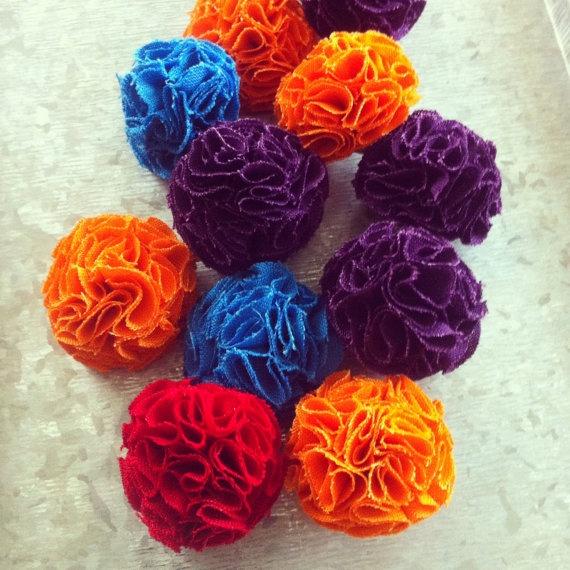 Orange MINI Garden Pinks Brooch by TheGentleFlower on Etsy
