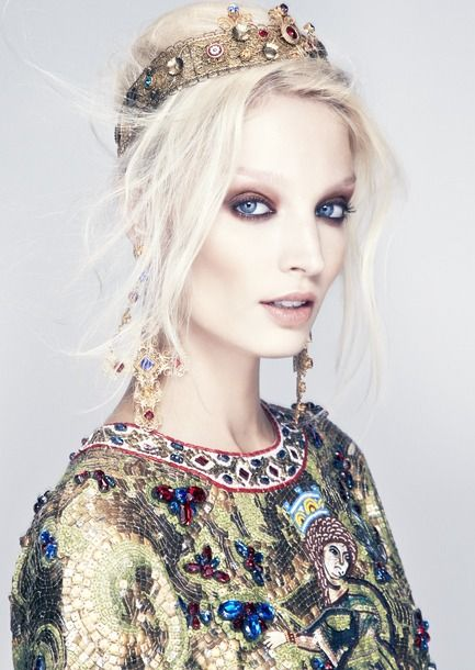 "Melissa Tammerijn in ""The Haute List"" by Thomas Cooksey for Harper's Bazaar Singapore December 2013 -Dolce & Gabbana"