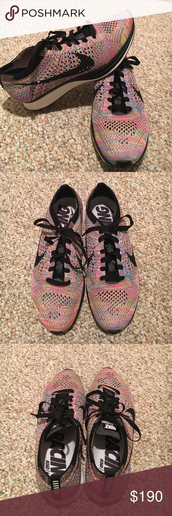 Nike Flyknit Racer Multicolor - gray tongue 2016; US 5 in men's (US 6.5 in women's) lightly worn once; no box but have original email receipt Nike Shoes Sneakers