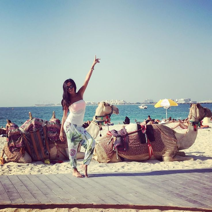 #GiorgiaPalmas Giorgia Palmas: Sempre carini i cammelli di sfondo in spiaggia... (Odorino cammellino a parte certo...) ☀️ #dubai #wonderfuldubai #today #dubaimarina #me #giorgiapalmas #noi #happy