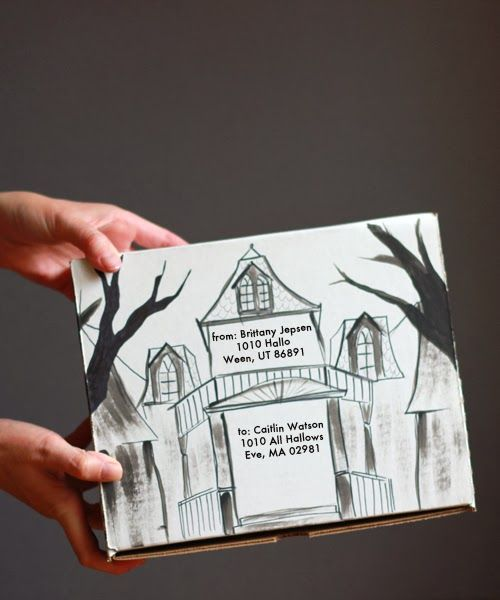 Haunted House care package and template.